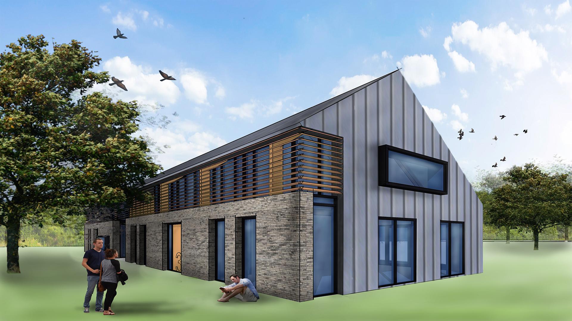 Dubbele schuurwoning te elst bouwbedrijf h w joosten for Bouwbedrijf huizen