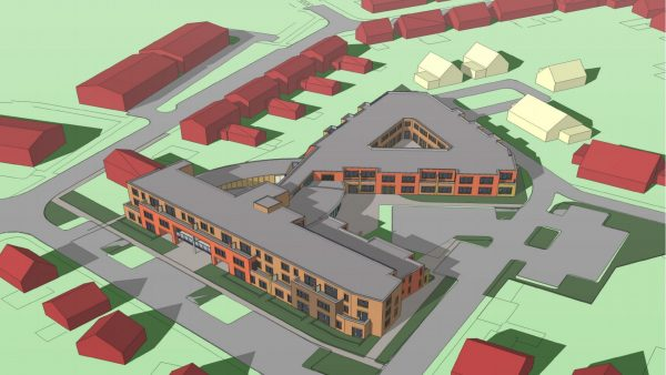 Nieuwbouw woon-zorgcentrum Binnenrijk, te Giesbeek